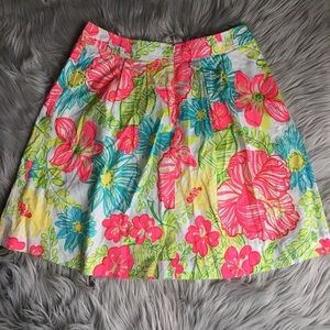 Lilly pulitzer knee length floral skirt